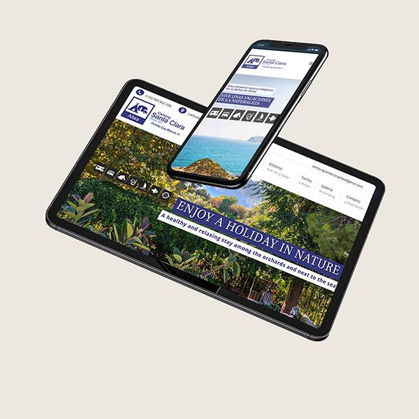 diseño web camping altea