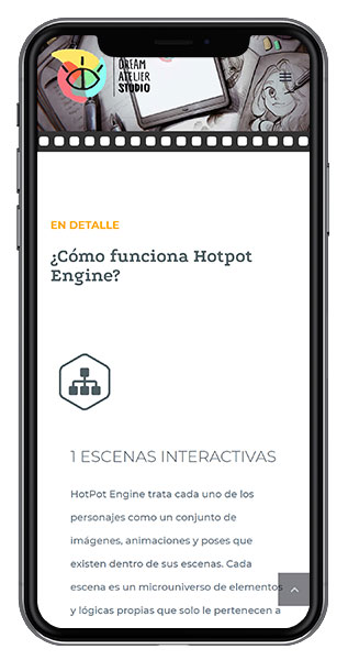 diseño web hotpot engine