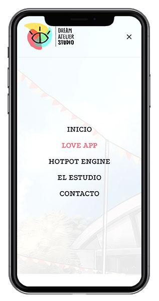 diseño web menu responsive
