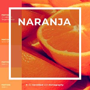 color naranja significado